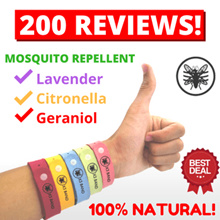[CLEARANCE SALE!] X3 Mosquito Repellent Band ★ Lavender Citronella And Geraniol Essential Oil