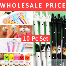 SALE (10/ 20pcs) fr ONLY $4.49 WHOLESALE Korean Style Cartoon Pen Sets (CLICK TO SEE $4.49)