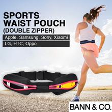Sports Waist Pouch (Double Zipper) - Jogging/Running/Cycling/Gym Waist Pouch