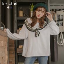 TOKICHOI - Leisure False collar Long Sleeve Top-182093-Winter