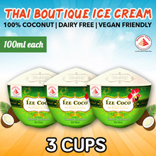 [Ize Coco] Fellow Price $5! Special! Bundle of 3 - Thai Boutique Coconut Ice Cream. 100g each.