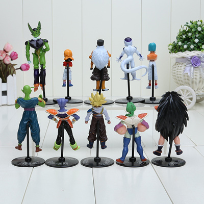 wholesale Dragon Ball Z GT Action Figures Crazy Party 10CM Cell/Freeza/Goku  PVC Dragonball Figures B