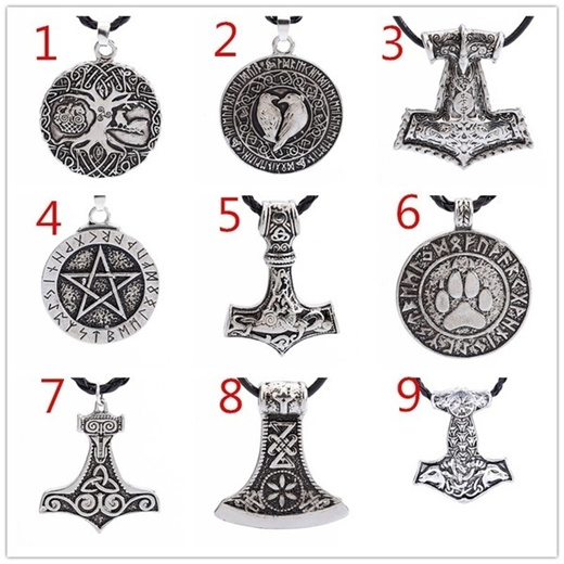 Qoo10 Norse Viking Knot Amulet Necklace Pendant Soldiers Crow Necklace Nordi Computer Games