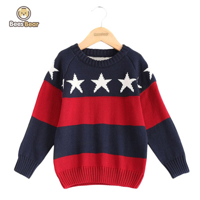 5a48229fe Qoo10 - Star Pattern Jacquard Color Block Pullover Sweater   Baby ...