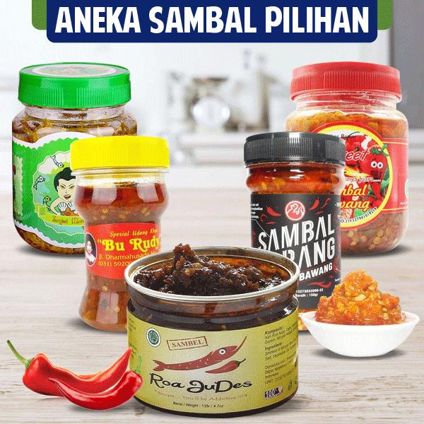 Aneka Sambal Olahan Sambal BU Rudy | Samabal Bawang | Sambal Roa Deals for only Rp32.000 instead of Rp32.000