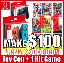 [SUPER EVENT] Nintendo Switch 1HIT Games + Joy/Pro Controller Set