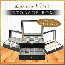 ★★[Local Seller/Luxury Watch Boxes]2/3/4/5/6/8/10/12/20/24 Slots Watch Storage Box/Jewelry/Winders