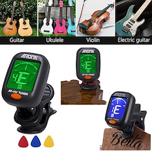SG Local Seller Guitar Tuner Instrument LCD Electronic Digital Chromatic + 3* Paddle