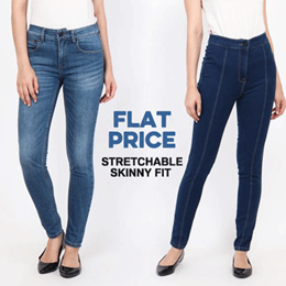 Papperdine Jeans - Flat Price - Stretchable Skinny Fit Women Jeans - Size 28-34