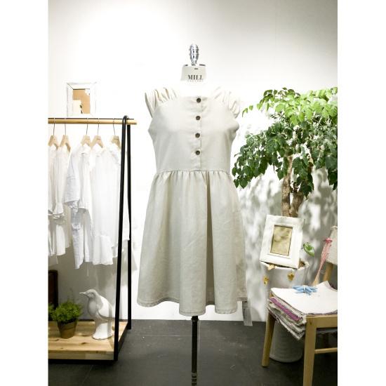 スタジオホワイトメイビーリンネン、袖なしのワンピースMC716S791 面ワンピース/ 韓国ファッション