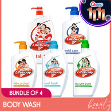 4 x LIFEBUOY BODY WASH 1L MIX AND MATCH