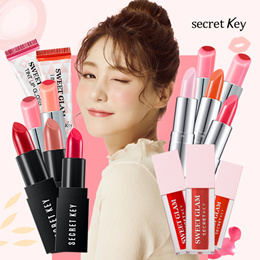 ♥FREE SHIPPING♥SECRETKEY LIP COLLECTION♥Semi-matt lipstick/Sweet glam tint glow/Two-tone glow