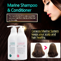 [CERACOS]★Marine ShampooCoditioner★Healthy scalp/Shiny hair/Care system/Sea cucumber/SBA17_069