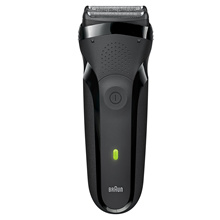 Braun Series 3 300s Rechargeable Electric Foil Shaver/Stubble Shaver for Men Face Black New