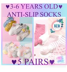5 Socks Bundle / Kids Anti Slip / Delivery / Kindergarten / Korean Style Fashion