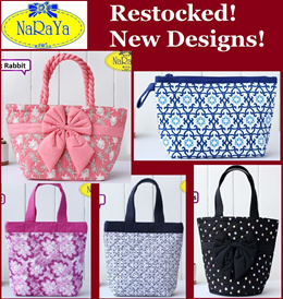 bb16f8a6c6f2 100+ Designs Colours In Stock! Sweet NaRaYa Bag with Ribbon in Cotton  Printed