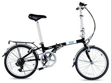 Ford by Dahon Taurus 2.0 7-Speed Folding Bicycle Black 11 x 20