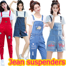 Jean suspenders*Denim Jumpsuit Loose Pants Cropped Trousers Women Jumpsuit 30 styles