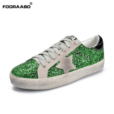94a630eaf07 Glitter Star Dirty Do Old Shoes For Women Mixed Color Tenis Feminino Casual  Shoes Women Sneakers