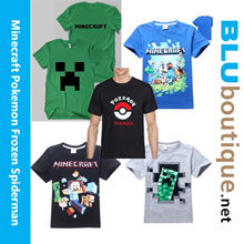 Minecraft T-shirt spiderman superman pokemon frozen pokemon go