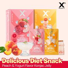 SUPER X Delicious Chewy Fruity Konjac Jelly Yogurt or Peach flavor 150g x 7ea