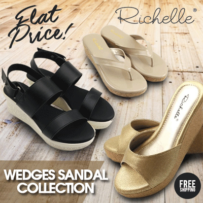 Richelle-WEDGES-Sandal Wanita Deals for only Rp207.000 instead of Rp207.000