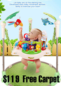 ★FREE CARPET +FREE DELIVERY ★ Rainforest Jumperoo - Introducing Baby to Full Exciting Sights Walker