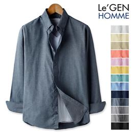 LeGEN Bigsize Oxford Slim-Fit shirt(LNSH1433ME)