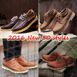 2016 new arrival men shoes high quality men dress shoes genuine leather men flat shoes men walker shoes men loafers men flat shoes male shoes boy shoes casual men shoes men cowhide shoes CNY gift