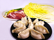 Cabbage and Pork Dumplings (白菜猪肉水饺) - 1kg Bags (Frozen)