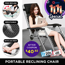 Portable Reclining Foldable Chair Relaxing contour  Breathable Fabric come with Cup / Phone Holder