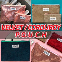 Velvet / Corduroy Pouch [Made in KOREA]★Wallet / Cosmetic Pouch / smartphone