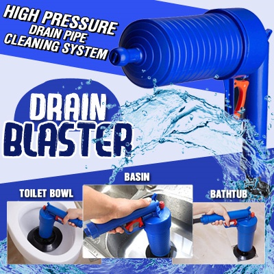 😍INSTOCK High Pressure Air Toilet Drain Blaster Pump Plunger Sink Pipe Clog Home Remover Cleaner
