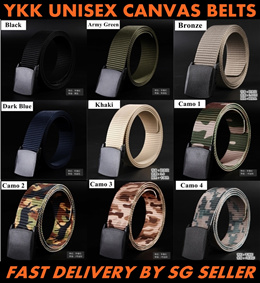(CLEARANCE SALE) UNISEX YKK CANVAS BELT / FAST DELIVERY / SG SELLER / HOT SALES