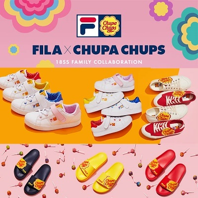 FILA X CHUPA CHUPS  7type Limited Edition Sneakers Shoes   Slipper   Court  Delux 50f5e49ab