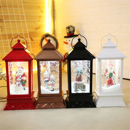 New Christmas Decorations Creative Snow Music Lantern Festival Scene Decoration Props Glowing Glass