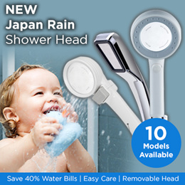 NEW Japan Rain Shower Head / Save 40% Water Bills!! / Easy Care / Removable Head