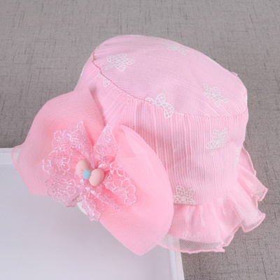 a372479b9 Baby Hat summer girl SUNCAP outing baby sun hat 1-2 year old fashion  children s pot cap spring and A