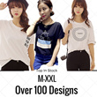 [BUY 5 FREE SHIPPING] 2016 New Arrival Korean Blouse Casual Loose fit T-shirts/Basic Design T-shirts/Casual T-shirts