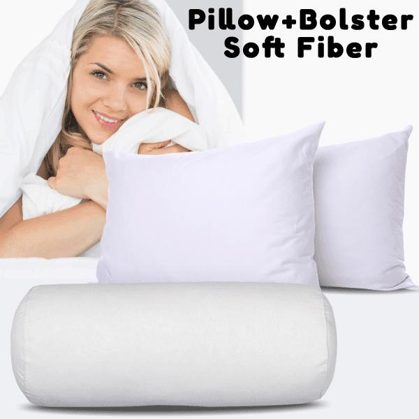 [ Paket Bantal dan Guling ] Premium Soft Fiber Pillow /Bolster Deals for only Rp109.000 instead of Rp109.000