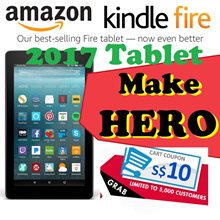 Amazon 7th generation All-New Fire 7 Tablet 7 inch 8GB Black/bluered WIFI version-with Special Offer