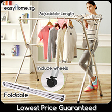 Extendable X Rack/ Foldable /movable wheels Drying Rack / Blanket Towel Clothes Hanging Hanger