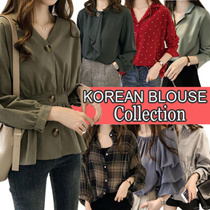 2019 Korea New Style Blouse Dress Long Blouse Short Blouse S-5XL