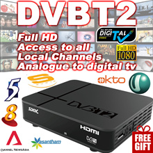 [SG]2018❤GIFT Cable❤ Singapore Digital  DVB T2 TV Set-top Box Receiver ★ Indoor Antenna ★ Support