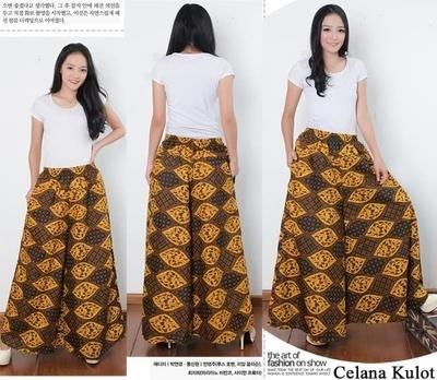 Arsees Store Celana kulot rok panjang wanita jumbo long pant Jenna hitam. Source · Andsra Jumbo Batik Long Culottes .