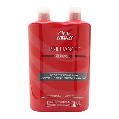 ▷$1 Shop Coupon◁ WELLA Brilliance Shampoo & Conditioner Fine to Normal Coloured Hair,
