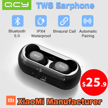 【New version】QCY T1 Wireless Bluetooth Earphones / Bluetooth 5.0 / IPX4 Waterproof / Automatic Pairi