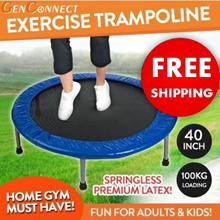 ⏰ 💯PREMIUM LATEX QUALITY❗️CHEAPEST IN QOO! Quiet Rebounder★Trampoline  / Slimming / Yoga / Kids