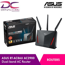 ASUS RT-AC86U AC2900 Dual-Band Gigabit Wi-Fi Router with MU-MIMO / 256 MB Flash