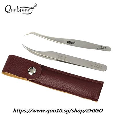 VETUS Volume Lash Tweezer Golden Feather and Dolphin Tweezers for Eyelash  Extension Tools in Brown L